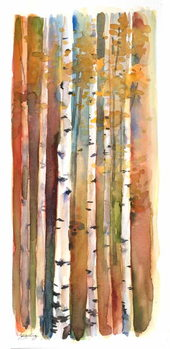 Birches in Autumn, 2013, Festmény reprodukció