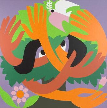 Bird Watchers, 1973 Festmény reprodukció