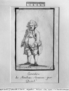 Caricature of Andre Boniface Louis of Riqueti, Viscount of Mirabeau, nicknamed Mirabeau-Tonneau Festmény reprodukció