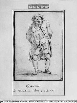 Caricature of Honore Gabriel Riqueti, Comte de Mirabeau Festmény reprodukció