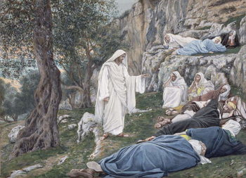 Christ Commanding his Disciples to Rest, illustration for 'The Life of Christ', c.1886-94 Festmény reprodukció