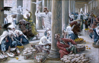 Christ Driving Out Them that Sold And Bought from the Temple, illustration for 'The Life of Christ', c.1884-96 Festmény reprodukció
