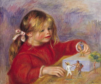 Claude Renoir (b.1901) at Play, 1905 (oil on canvas) Festmény reprodukció