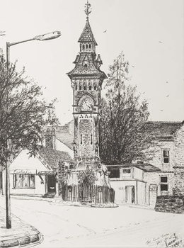 Clock Tower, Hay on Wye, 2007, Festmény reprodukció