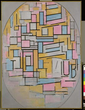 Composition in Oval with Colour Planes 2, 1914 Festmény reprodukció