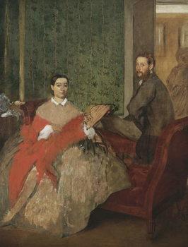 Edmondo and Thérèse Morbilli, c.1865 Festmény reprodukció