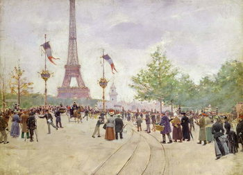 Entrance to the Exposition Universelle, 1889 Festmény reprodukció
