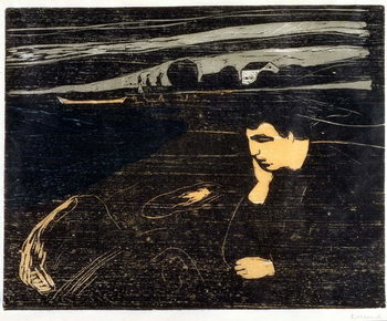 Evening, Melancholy: On the Beach (Abend, Melancholie am Strand) Festmény reprodukció