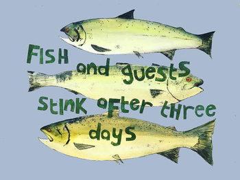 Fish & guests ,2018 Festmény reprodukció