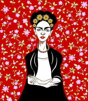 Frida Kahlo, 2018 Festmény reprodukció