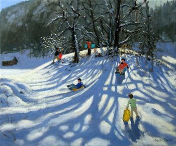 Fun in the snow, Morzine, France Festmény reprodukció