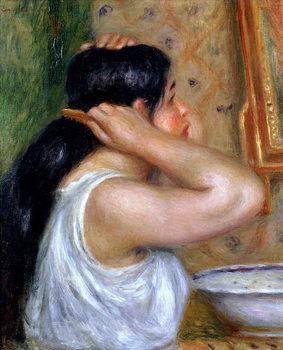 Girl Combing her Hair, 1907-8 Festmény reprodukció