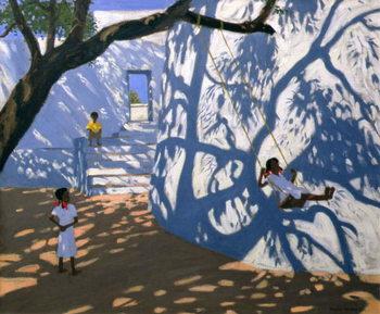 Girl on a Swing, India, 2000 Festmény reprodukció
