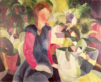 Girl with a Fish Bowl, 20th century Festmény reprodukció