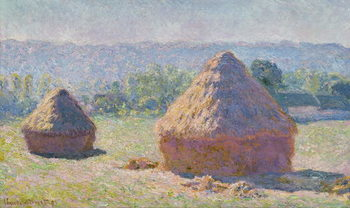 Grainstacks at the end of the Summer, Morning effect, 1891 Festmény reprodukció