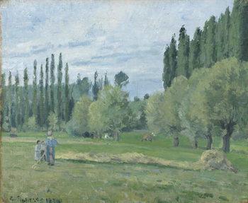 Haymaking, 1874 Festmény reprodukció