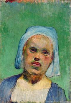 Head of a Breton Festmény reprodukció