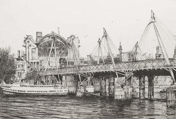 Hungerford Bridge London, 2006, Festmény reprodukció