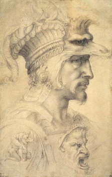 Ideal head of a warrior Festmény reprodukció