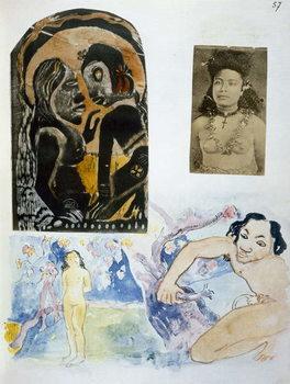 Illustrations from 'Noa Noa, Voyage a Tahiti', published 1926 Festmény reprodukció