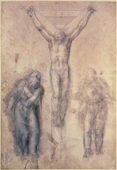 Inv.1895-9-15-509 Recto W.81 Study for a Crucifixion Festmény reprodukció