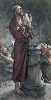 Jesus in Prison, illustration for 'The Life of Christ', c.1884-96 Festmény reprodukció