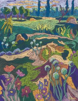July Terrain, 2008 Festmény reprodukció