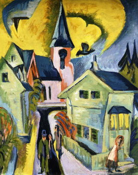 Konigstein with Red Church; Konigstein mit roter Kirche, 1916 Festmény reprodukció