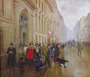Leaving the Conservatoire, 1899 Festmény reprodukció