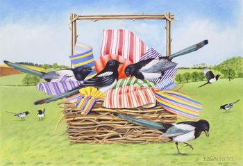 Magpies, 1990 Festmény reprodukció