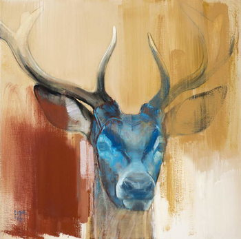 Mask (young stag), 2014, Festmény reprodukció