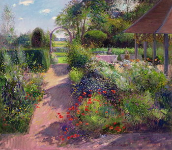 Morning Break in the Garden, 1994 Festmény reprodukció