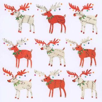 Nine Document Reindeer Festmény reprodukció
