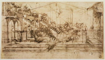 Perspective Study for the Background of The Adoration of the Magi Festmény reprodukció