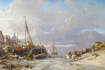 Port en Bretagne, 1861 Festmény reprodukció