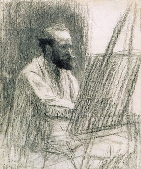 Portrait of Edouard Manet (1832-83) at his Easel Festmény reprodukció