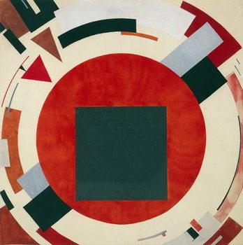 Proun, circa 1922, El Lissitzky Festmény reprodukció