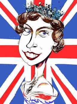 Queen Elizabeth II   , young  by Neale Osborne Festmény reprodukció