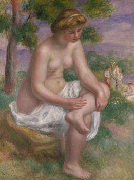 Seated Bather in a Landscape or, Eurydice, 1895-1900 Festmény reprodukció