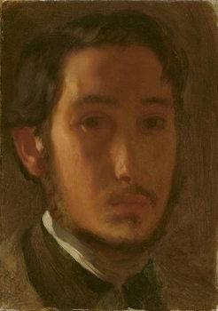 Self-Portrait with White Collar, c.1857 Festmény reprodukció