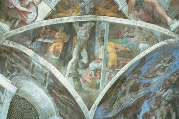 Sistine Chapel Ceiling: Haman (spandrel) Festmény reprodukció