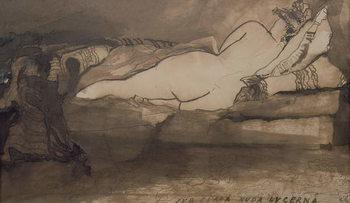 Sleeping Nude Festmény reprodukció