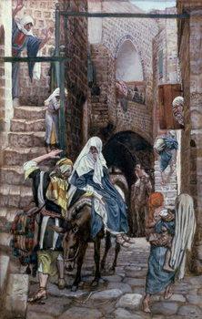St. Joseph Seeks Lodging in Bethlehem, illustration for 'The Life of Christ', c.1886-94 Festmény reprodukció