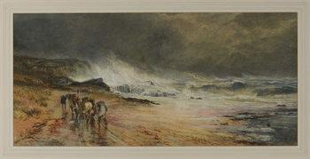 Storm on the Firth, 1874 Festmény reprodukció