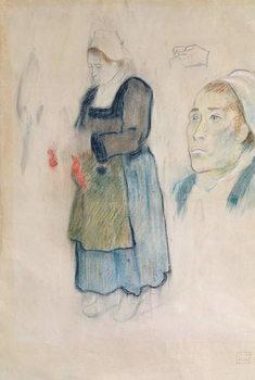 Studies of Breton peasants, 1888 Festmény reprodukció