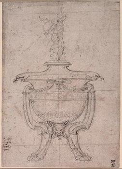 Study of a decorative urn Festmény reprodukció