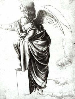 Study of an Angel (chalk on paper) Festmény reprodukció