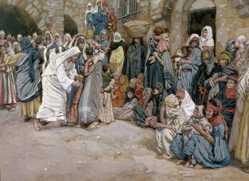 'Suffer the Little Children to Come Unto me', illustration for 'The life of Christ', c.1886-96 Festmény reprodukció