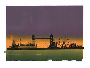 Sunset on London Festmény reprodukció
