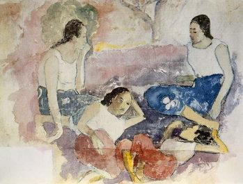 Tahitian Women, from 'Noa Noa, Voyage a Tahiti', published 1926 Festmény reprodukció